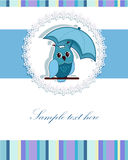 Piękna karta z sową Fotografia Royalty Free