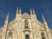 Piękna katedra w Mediolan obraz royalty free