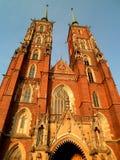 Piękna katedra w Wrocławskim obraz royalty free