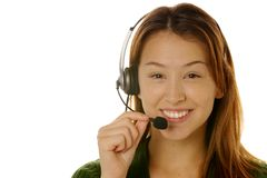 piękna klienta usług kobiety Zdjęcie Stock