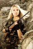 piękna kobieta żołnierz. Zdjęcie Stock