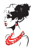 Piękna kobieta ilustracji