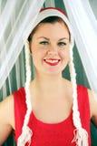 piękna kobieta biały Obraz Royalty Free