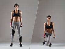 piękna kobieta fizyczny fitness Obrazy Stock