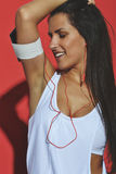 piękna kobieta fizyczny fitness zdjęcie royalty free