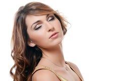 Piękna kobieta. Fotografia piękna zmysłowa kobieta z długie włosy Obraz Royalty Free