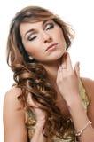 Piękna kobieta. Fotografia piękna zmysłowa kobieta z długie włosy Obrazy Royalty Free