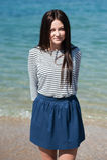 piękna kobieta plażowa brunetki fotografia stock