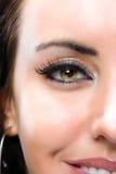 piękna kobieta połowy twarzy Obraz Royalty Free