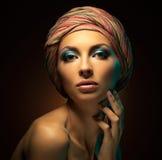 piękna kobieta portret badania Zdjęcie Stock