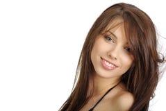 piękna kobieta portret blasku fotografia stock