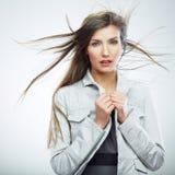 piękna kobieta portret jednostek gospodarczych Zdjęcie Stock