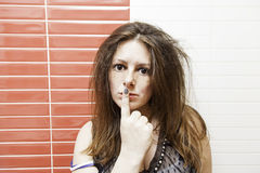 Piękna kobieta poważna Obraz Stock