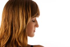 piękna kobieta profilowa Zdjęcia Royalty Free