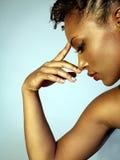 piękna kobieta profilowa zdjęcie stock