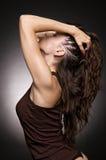 piękna kobieta profilowa Zdjęcia Stock