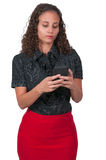 piękna kobieta sms - ów Obraz Stock