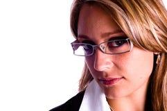 piękna kobieta szkła Zdjęcie Stock