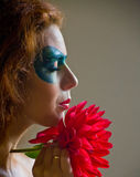 Piękna kobieta sztuka portret Obrazy Royalty Free