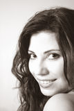 piękna kobieta uśmiech. obrazy stock