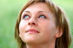 piękna kobieta uśmiechnięta zdjęcie stock