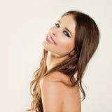 piękna kobieta uśmiechnięta białe zęby skóra zdrowa Zdjęcia Stock