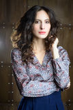 piękna kobieta włosów zdjęcie royalty free