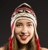 Piękna kobieta w ciepłej odzieży fotografia royalty free