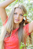 Piękna kobieta w lecie Obraz Royalty Free