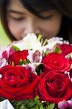 Piękna kobieta w miłości. Fotografia Royalty Free