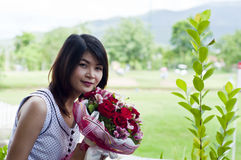 Piękna kobieta w miłości. Obraz Stock