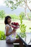 Piękna kobieta w miłości. Zdjęcie Royalty Free