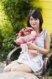 Piękna kobieta w miłości. Zdjęcie Stock