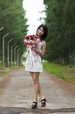Piękna kobieta w miłości. Zdjęcia Stock