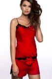 Piękna kobieta w płci sleepwear Obraz Stock