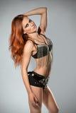 Piękna kobieta w rockowym kostiumu Obraz Royalty Free