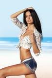 Piękna kobieta w seksownej odzieży Zdjęcia Stock