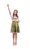 Piękna kobieta w tradycyjnej bavarian sukni, studio strzał Obrazy Stock