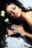 piękna kobieta w wannie Fotografia Stock