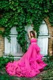 Piękna kobieta w wspaniałej sukni Obrazy Stock