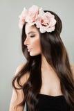 Piękna kobieta z Długą Zdrową fryzurą zdjęcie royalty free