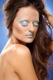 Piękna kobieta z fantazi makeup Zdjęcia Royalty Free