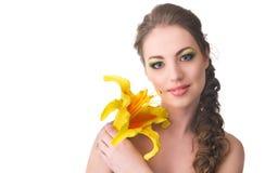 Piękna kobieta z lelują Zdjęcia Royalty Free