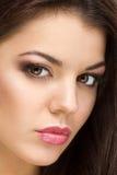 Piękna kobieta z wieczór makijażem Fotografia Royalty Free