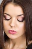 Piękna kobieta z wieczór makijażem Fotografia Stock