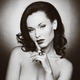 Piękna kobieta z wieczór makijażem Zdjęcie Royalty Free