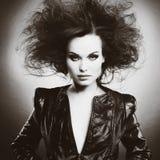 Piękna kobieta z wieczór makijażem Zdjęcia Stock