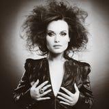 Piękna kobieta z wieczór makijażem Obraz Stock