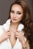 Piękna kobieta z wieczór makijażem i tęsk Fotografia Stock