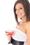 piękna koktajlu strony kobieta zdjęcie stock